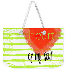 The Heart Of My Soul Weekender Tote Bag