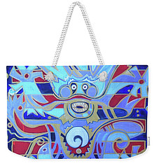 Weekender Tote Bag featuring the painting The Heavenly Dragon Of Creativity by Denise Weaver Ross
