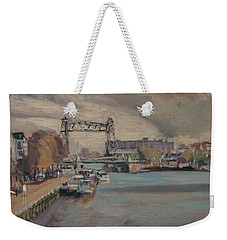 Weekender Tote Bag featuring the painting The Hef Rotterdam by Nop Briex
