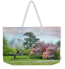 Weekender Tote Bag featuring the photograph The Hidden Garden by Diana Angstadt