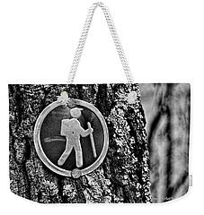 The Hiking Sign Weekender Tote Bag