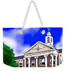 Weekender Tote Bag featuring the painting The Hill by Jean Pacheco Ravinski