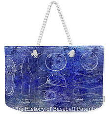 The History Of Baseball Patents Blue Weekender Tote Bag