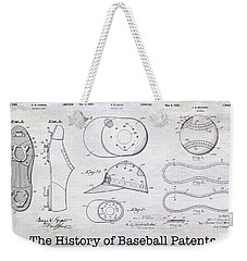 The History Of Baseball Patents Weekender Tote Bag