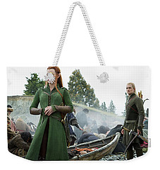 The Hobbit The Battle Of The Five Armies Evangeline Lilly Orlando Bloom Weekender Tote Bag