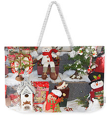 The Holiday Snowman Party Weekender Tote Bag