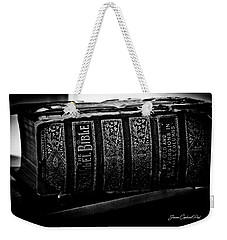 The Holy Bible Weekender Tote Bag by Joann Copeland-Paul