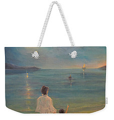 Weekender Tote Bag featuring the painting The Homecoming by Donna Tucker