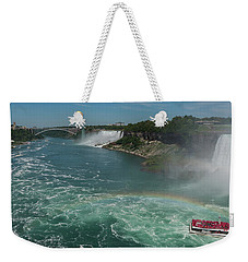 Weekender Tote Bag featuring the photograph The Hornblower, Niagara Falls by Brenda Jacobs