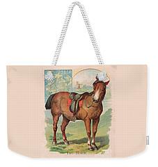 The Horse Victorian Chromolithograph Weekender Tote Bag by Peter Gumaer Ogden