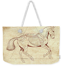 The Horse's Canter Revealed Weekender Tote Bag by Catherine Twomey