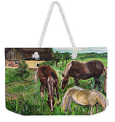 The Horses Of Larochemillay Weekender Tote Bag