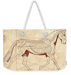The Horse's Trot Revealed Weekender Tote Bag by Catherine Twomey