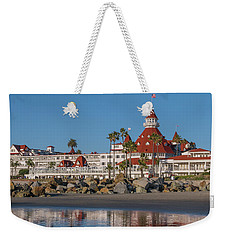 Weekender Tote Bag featuring the photograph The Hotel Del Coronado by Robert Bellomy