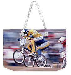 The Human Dragster, Tommy Brackens 1985 Weekender Tote Bag