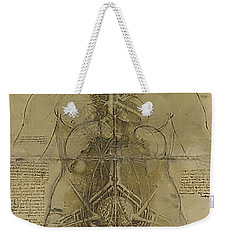 Weekender Tote Bag featuring the painting The Human Organ System by James Christopher Hill