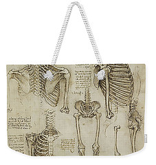 Weekender Tote Bag featuring the painting The Human Ribcage by James Christopher Hill