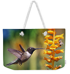 The Hummingbird And The Bee Weekender Tote Bag by William Lee