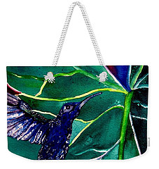 The Hummingbird And The Trillium Weekender Tote Bag