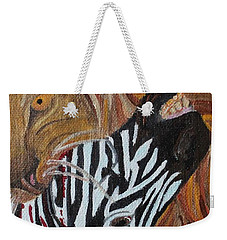 Weekender Tote Bag featuring the painting The Hunter by Amy Gallagher