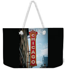 The Iconic Chicago Theater Sign Weekender Tote Bag