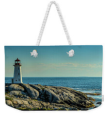 The Iconic Lighthouse At Peggys Cove Weekender Tote Bag by Ken Morris