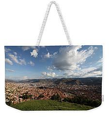 Weekender Tote Bag featuring the photograph The Inca Capital Of Cusco by Aidan Moran