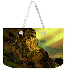 The Inca Face At Ingapirca Weekender Tote Bag by Al Bourassa