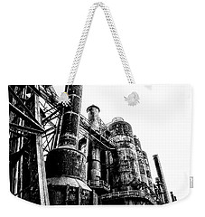 The Industrial Age At Bethlehem Steel In Black And White Weekender Tote Bag by Bill Cannon