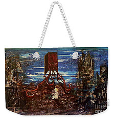 Weekender Tote Bag featuring the painting The Inhuman Condition by Reed Novotny