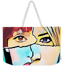 The Inner Struggle Split Personality Abstract Weekender Tote Bag
