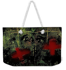 Weekender Tote Bag featuring the painting The Innocent by Jim Vance