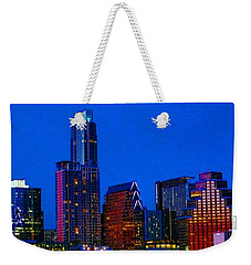 The #instaawesome #austin #skyline On A Weekender Tote Bag