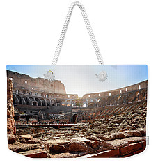 The Interior Of The Roman Coliseum Weekender Tote Bag