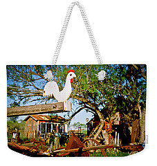 Weekender Tote Bag featuring the photograph The Iron Chicken by Linda Unger