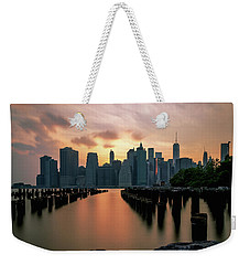 The Island Of Manhattan  Weekender Tote Bag by Anthony Fields