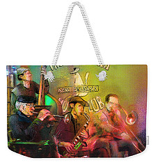 The Jazz Vipers In New Orleans 02 Weekender Tote Bag by Miki De Goodaboom
