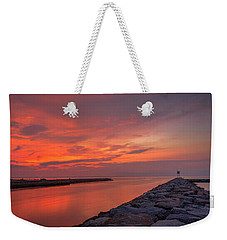 the jetty at Shinnecock Weekender Tote Bag