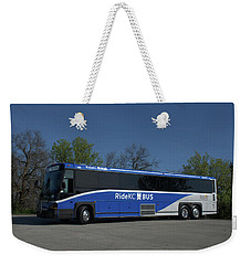 Weekender Tote Bag featuring the photograph The Jo Bus 406 Mci by Tim McCullough