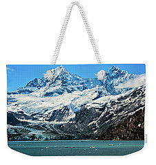 Weekender Tote Bag featuring the photograph The John Hopkins Glacier by John Hight