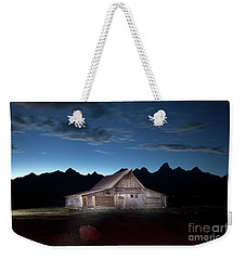 The John Moulton Barn On Mormon Row At The Base Of The Grand Tetons Wyoming Weekender Tote Bag