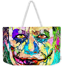 The Joker Grunge Weekender Tote Bag by Daniel Janda