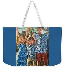 Weekender Tote Bag featuring the painting The Joy Of Childhood by Belinda Low