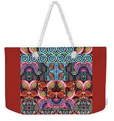 The Joy Of Design Mandala Series Puzzle 7 Arrangement 3 Weekender Tote Bag