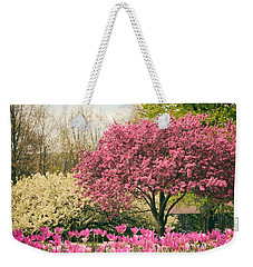 Weekender Tote Bag featuring the photograph The Joy Of Tulips by Jessica Jenney