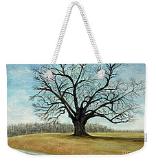 Weekender Tote Bag featuring the painting The Keeler Oak by Lyric Lucas