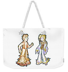 Weekender Tote Bag featuring the digital art The Kids Of Tomorrow Corie And Albert by Shawn Dall