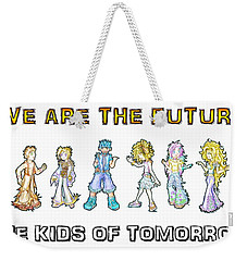 Weekender Tote Bag featuring the digital art The Kids Of Tomorrow by Shawn Dall