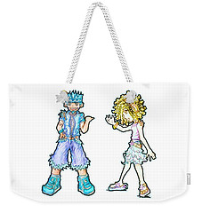 Weekender Tote Bag featuring the digital art The Kids Of Tomorrow Toby And Daphne by Shawn Dall