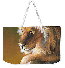 Weekender Tote Bag featuring the painting The King by Sherry Shipley